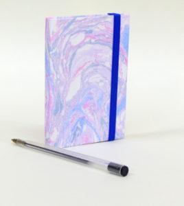 Taccuino in carta marmorizzata