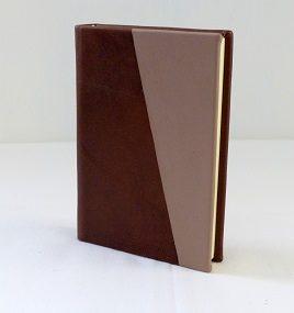Diario in pelle bicolore