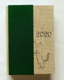 Agenda tascabile giornaliera Green Cat 13,5x9,5cm