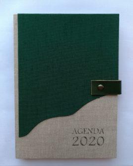 AGENDA GRANDE GREEN 21X15CM