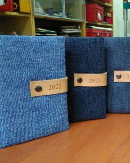 Agenda tascabile giornaliera Jeans 13,5x9,5cm