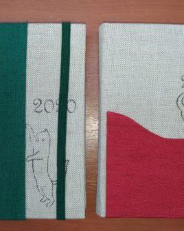 Agenda tascabile giornaliera con elastico (gatto) 13,5x9,5 cm