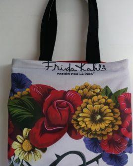 borsa country fiori - bianco