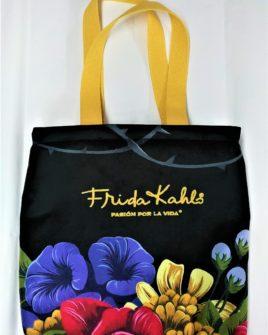 borsa country fiori - nero