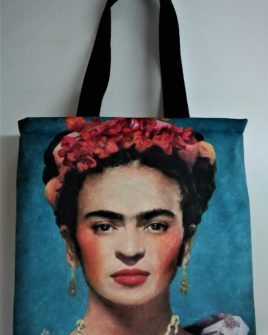 Borsa Country Frida - velluto azzurro