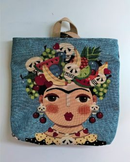 Zaino Sofia - frida doll fruit and skull